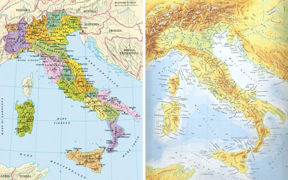 Cartina Italia Modificabile.L Intelligenza Emotiva